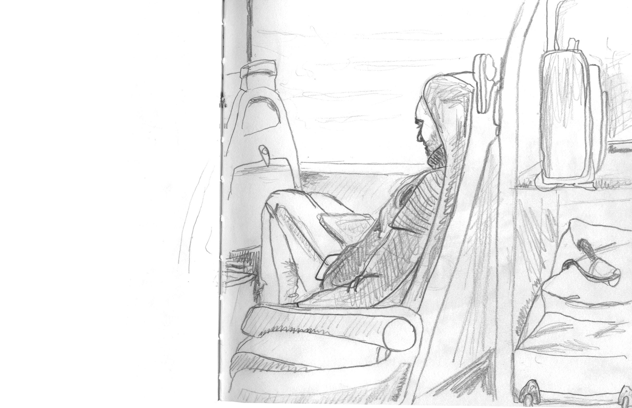 sketch of commuter sketch people walking by ellen vesters illustrator ma childrens book illustration