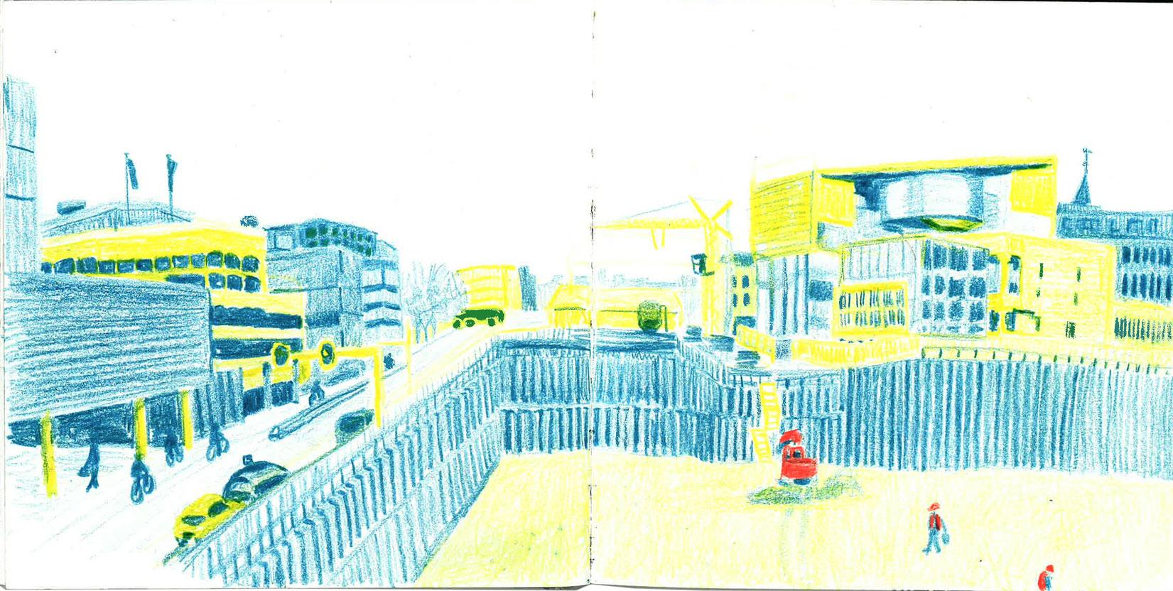 building site in utrecht by ellen vesters illustrator ma childrens book illustration