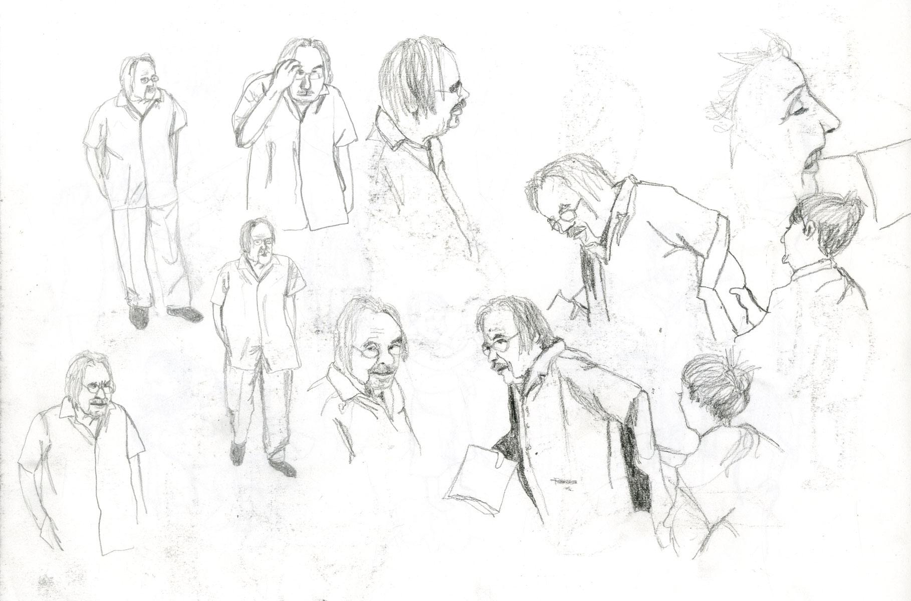 sketch elderly by illustrator ellen vesters