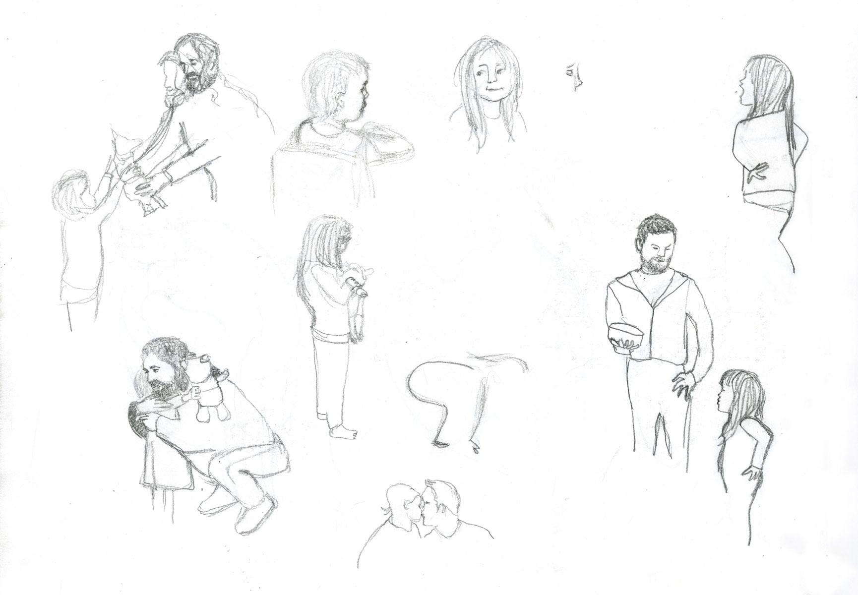 sketch children by illustrator ellen vesters