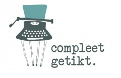 Logo design Compleet getikt or Completely nuts by Ellen Vesters illustration and graphic design
