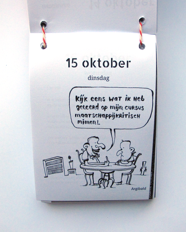 scheurkalender sanne bloem illustration by argibald mime