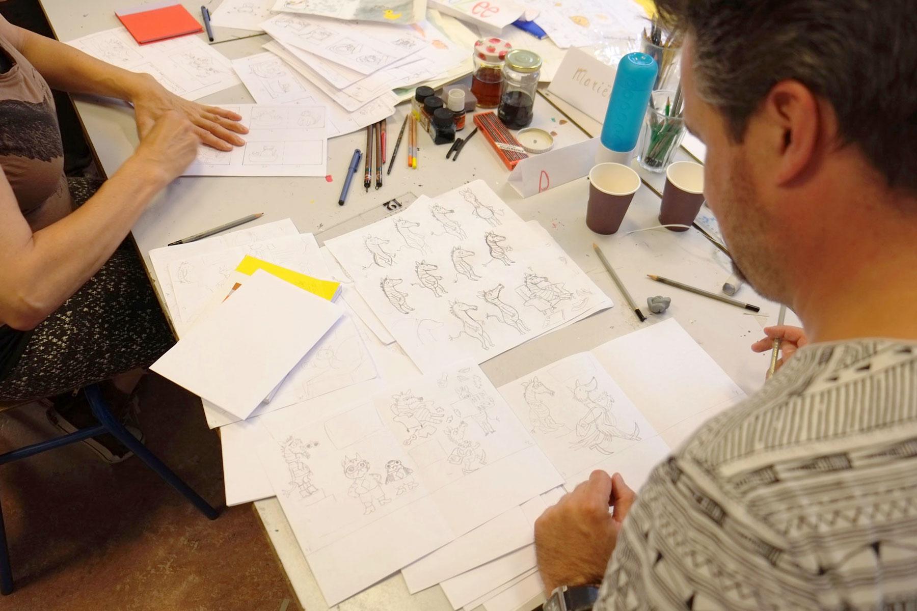 Cursus kinderboeken illustreren door Ellen Vesters bij Urlaub creatieve workshops en cursussen in Utrecht