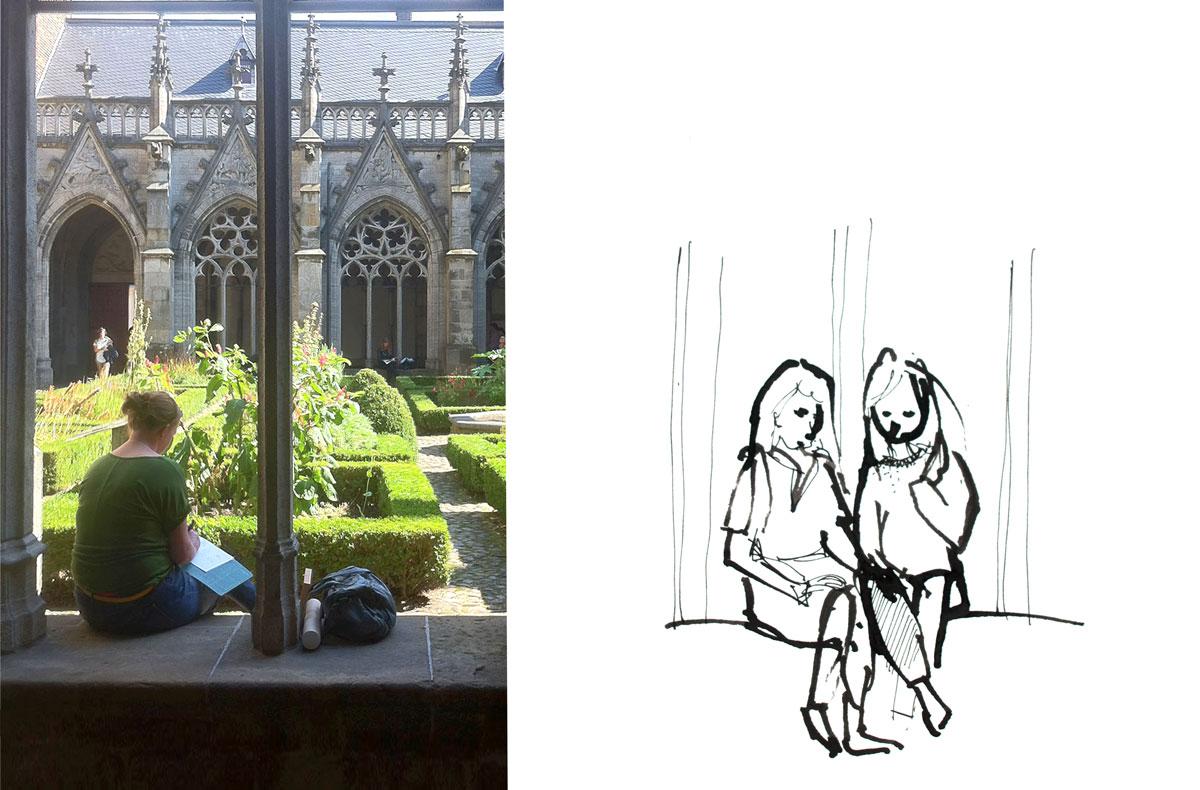 Wildtekenen bij Illustratiecursus in Utrecht door Ellen Vesters