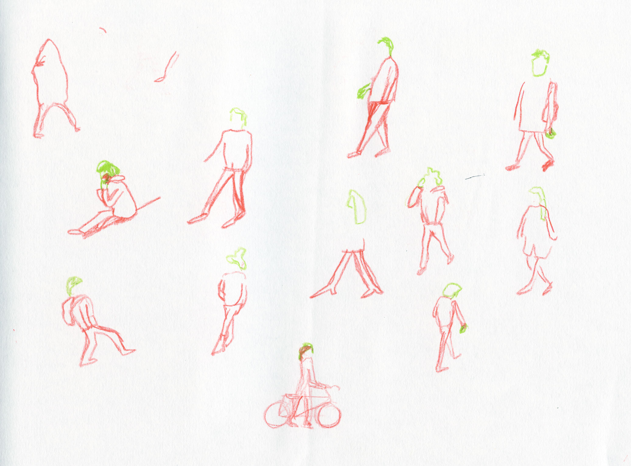 sketch people walking by ellen vesters illustrator ma childrens book illustration