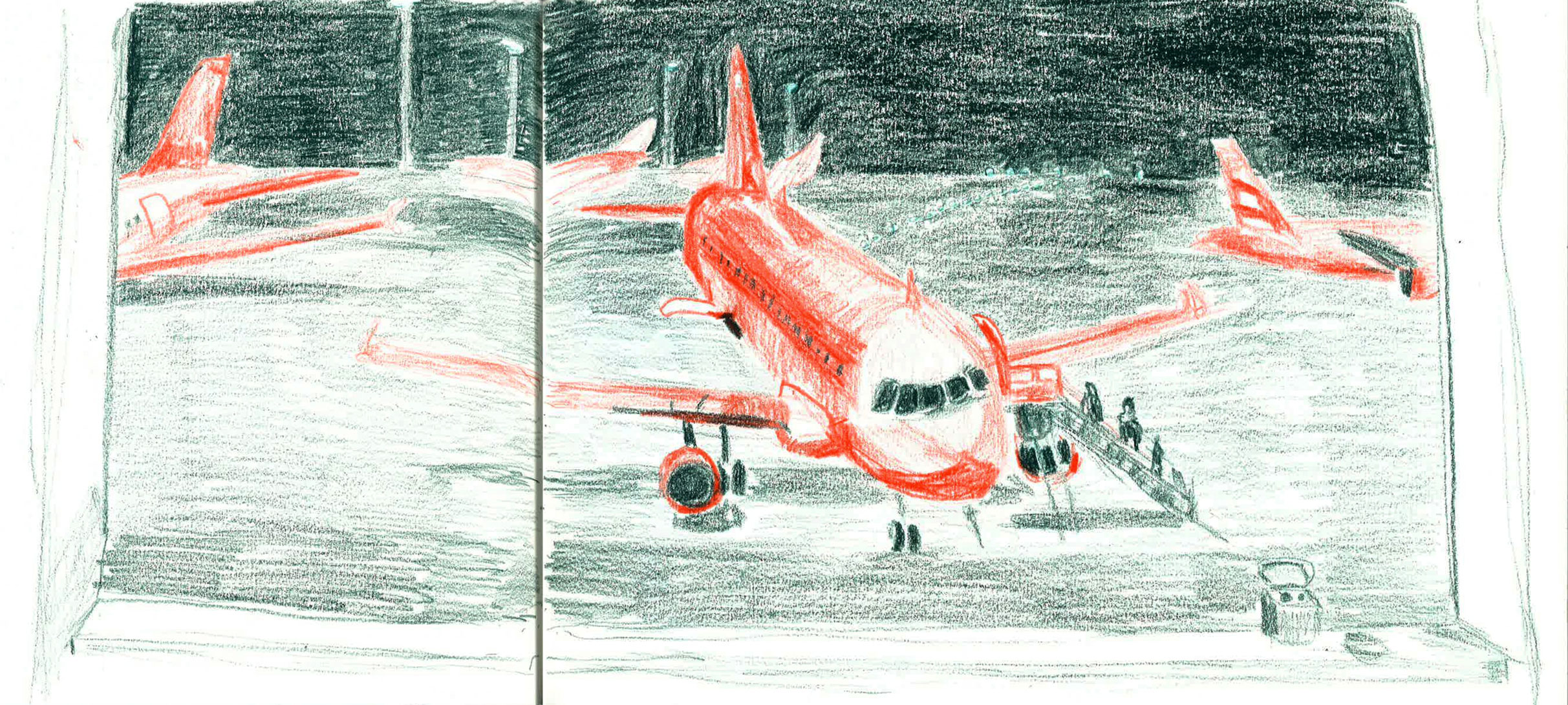 early-sketch-plane-at-schiphol-airport