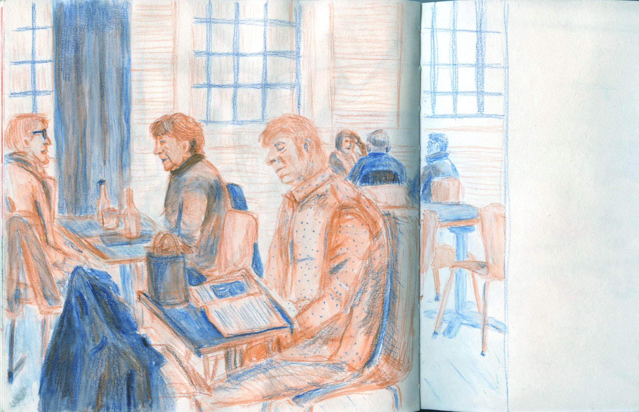 sketch at fitzwilliam museum by ellen vesters illustrator MA childrens book illustration