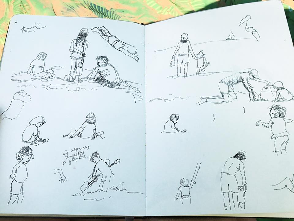 Beach sketches 2 by Ellen Vesters Illustrator
