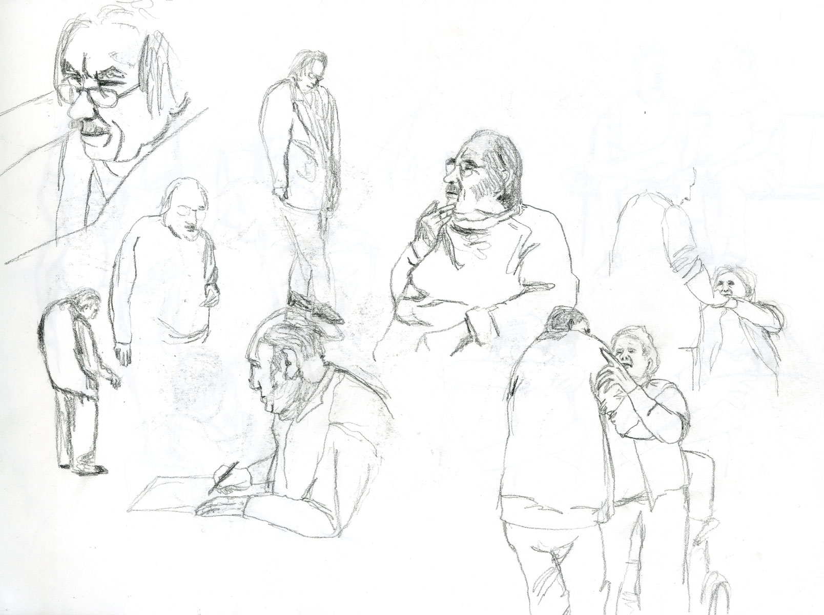 sketch elderly by illustrator ellen vesters