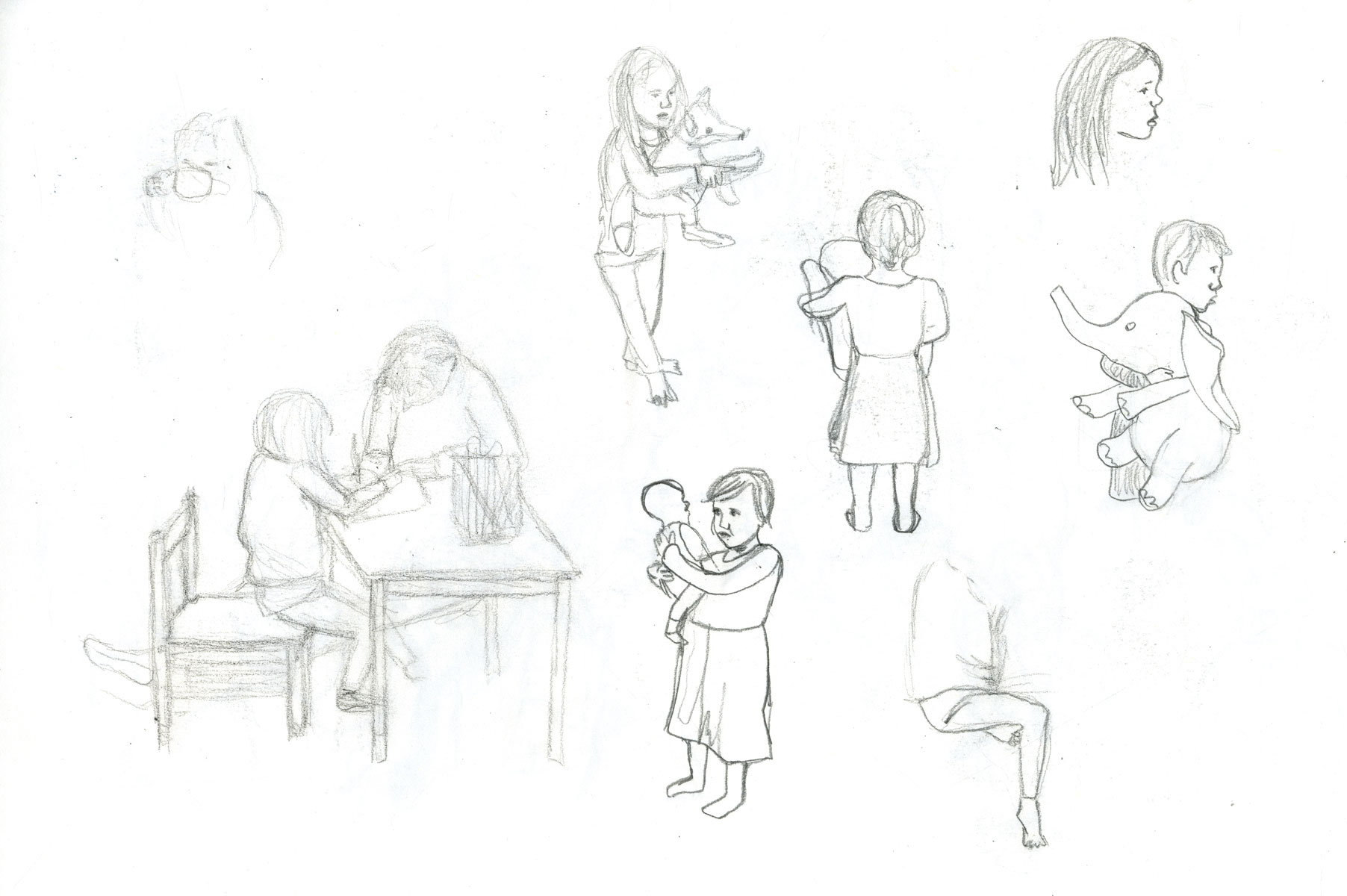 sketch children by illustrator ellen vesters