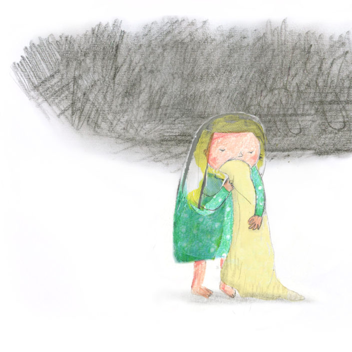 sad girl by ellen vesters children's book illustrator