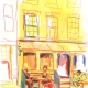 Illustration at Urban Sketchers Cafe Hegeraad Amsterdam by Ellen Vesters picture book illustrator