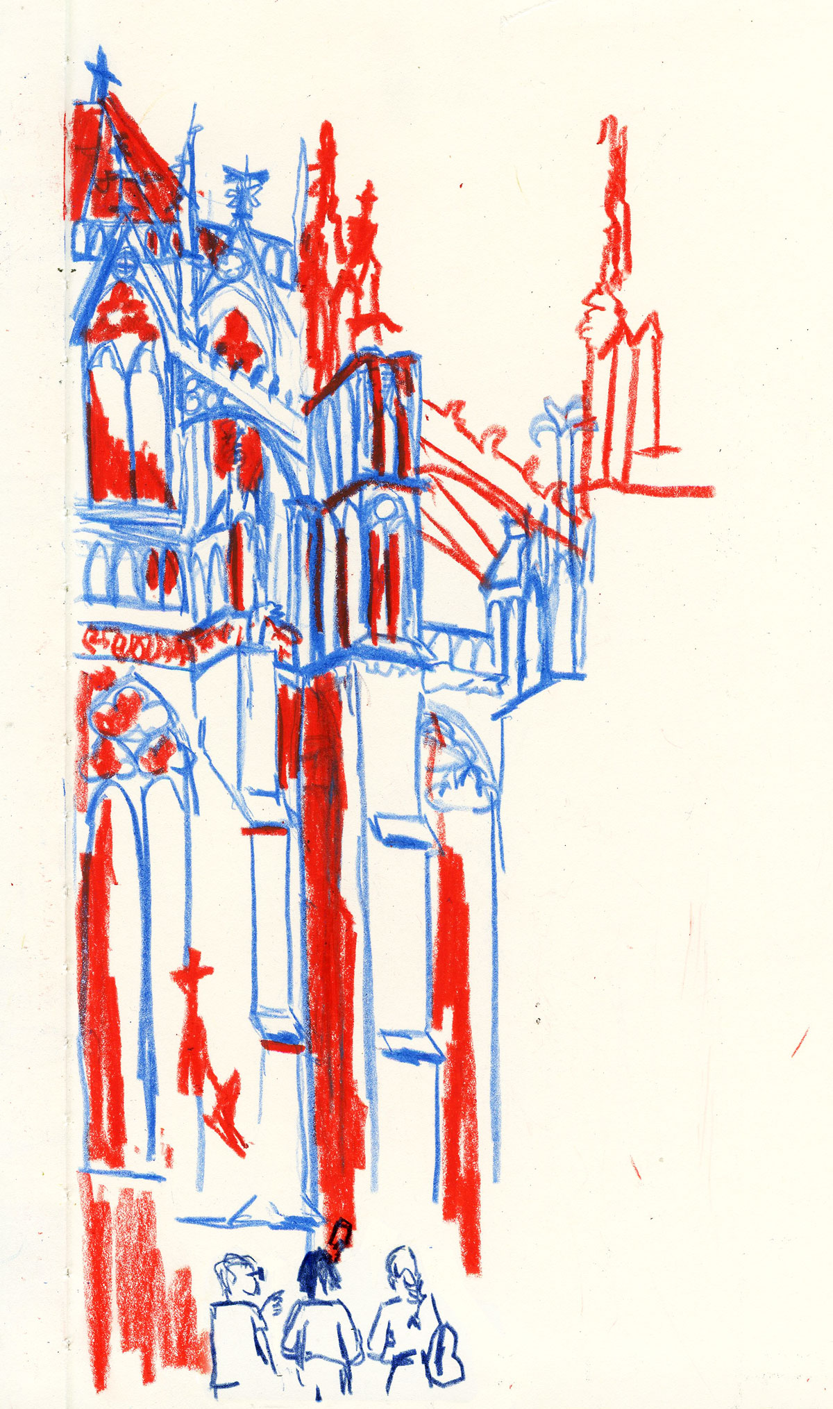 Illustration of Dom church Utrecht by Ellen Vesters picture book illustrator