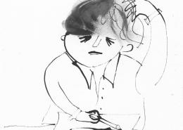 Illustration of the frustrated artist by Ellen Vesters picture book illustrator