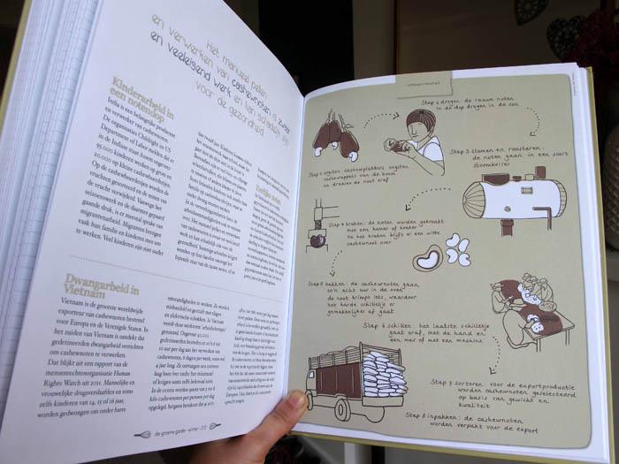 illustration infographic cashew rice groene garde sustainable cooking by ellen vesters illustrator graphic designer