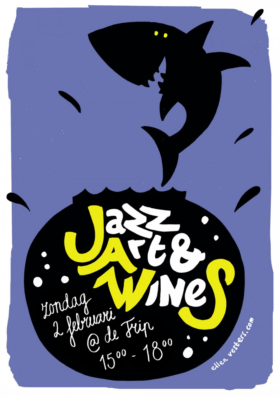 JAWS Jazz Art WineS Festival in Utrecht - poster design by Ellen Vesters