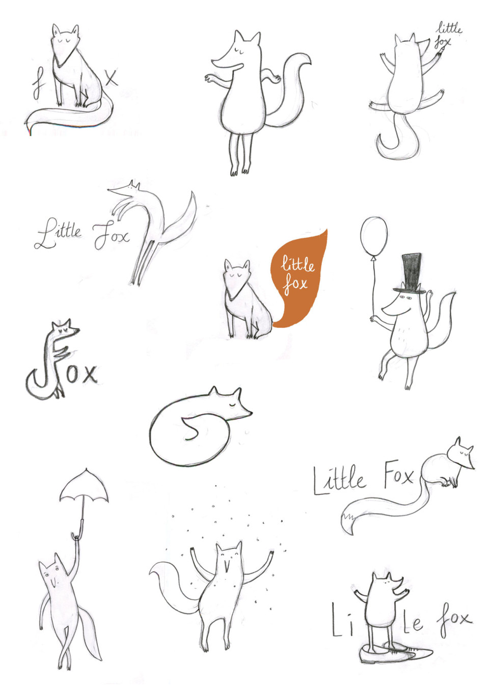 little fox logo design by ellen vesters illustrator