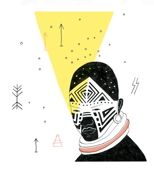 Oh Marie Magazine Dazzle Painting Masai Ellen Vesters illustrator graphic designer
