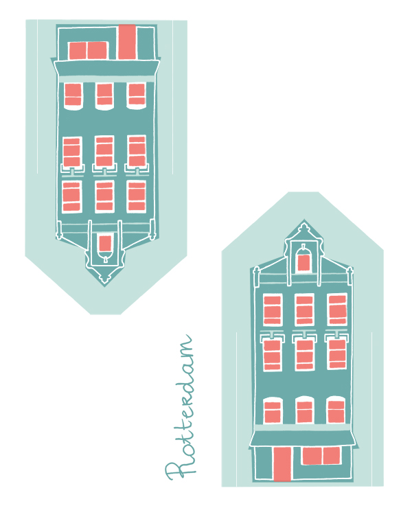 dutch dwellings hollandje huisjes rotterdam_ellen vesters illustrator graphic designer