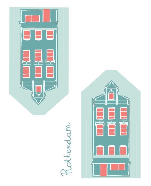 dutch dwellings hollandje huisjes rotterdam_ellen vesters illustrator graphic designer