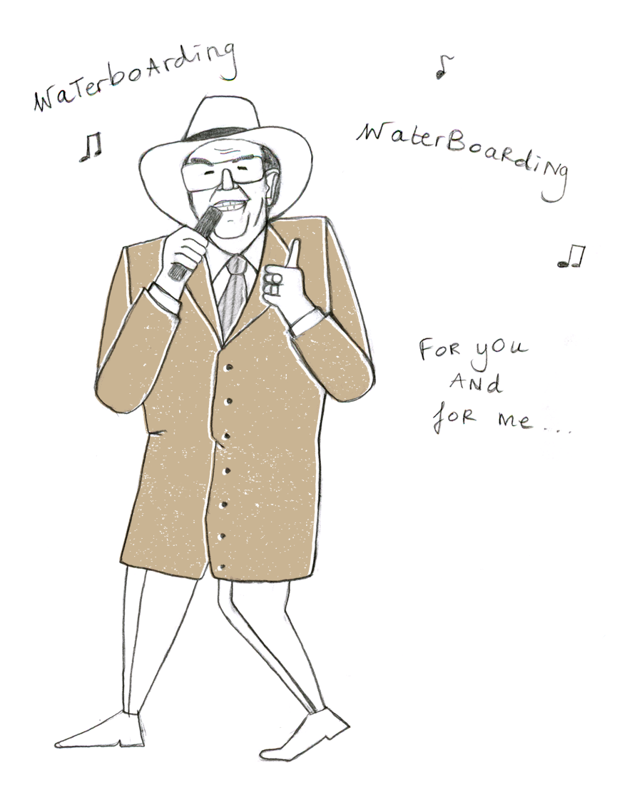 eddy wally performing waterboarding song by ellen vesters graphic designer illustrator utrecht