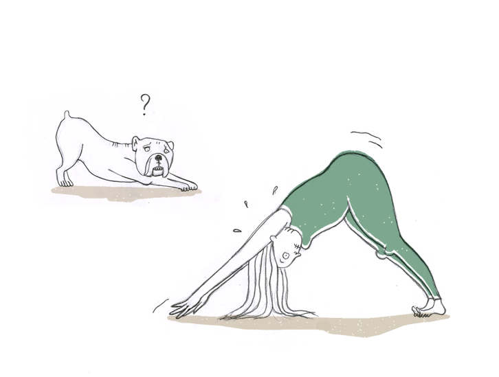 yoga downward facing dog by ellen vesters