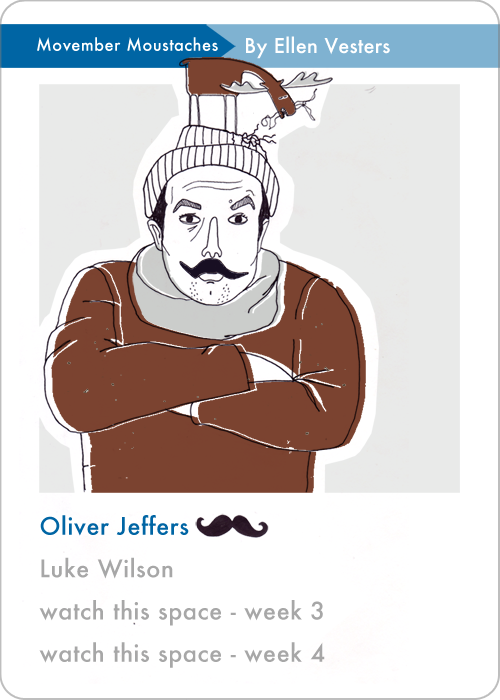 delicious dudes quartets category movember moustaches oliver jeffers by ellen vesters illustrator graphic designer