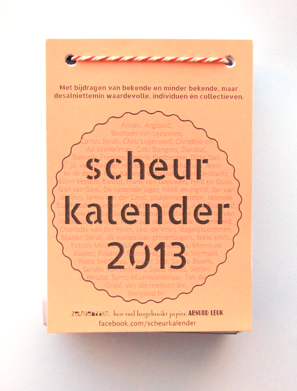 scheurkalender by sanne-bloem illustrations by ellen vesters illustrator graphic designer