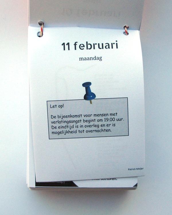 scheurkalender by sanne bloem text by patrick meijer